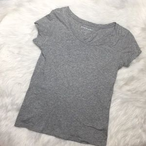 EVERLANE Soft Gray Pima Cotton tee sz S